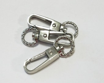 Antique Silver, Clasp, Swivel, Watch Chain, Lanyard, Vintage Style, Steampunk, Mixed Media, Jewelry, Beading, Supply, Supplies