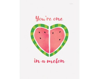 One in a Melon Print