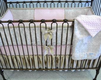 Custom Baby Bedding Keepsake Blossom bedding: Bethany  Blush Pink