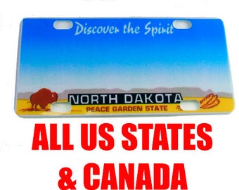 Mini State License Plate, Kiddie Car Plate,  Personalized - all US States and Canada
