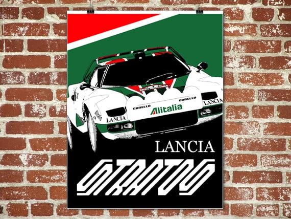 Lancia Stratos Poster Lancia Stratos Automobil Lancia