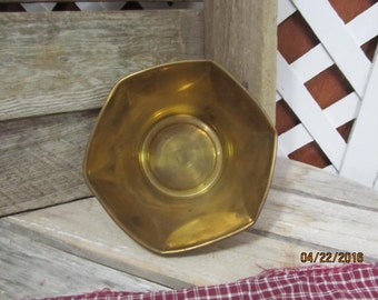 Vintage Brass Bowl Made in India Serving Bowl Accent Decorative