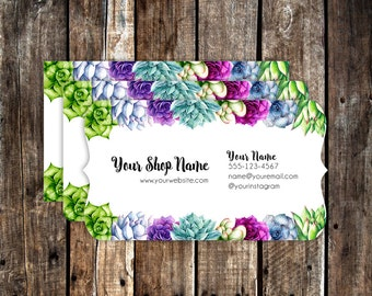 Business Cards - Custom Business Cards - Personalized Business Cards - Mommy Calling Cards - Succulent Garden - P0118-7