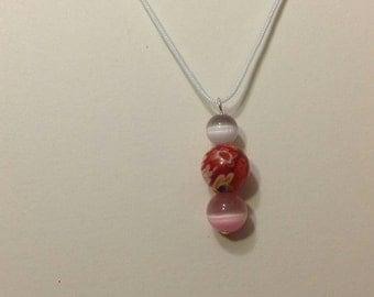 Round murano bead necklace