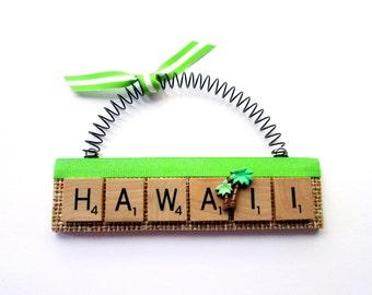 Hawaii Scrabble Tile Ornament