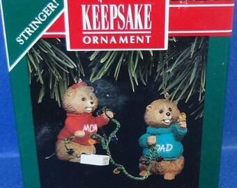 1992 Mom and Dad Hallmark Retired Ornaments