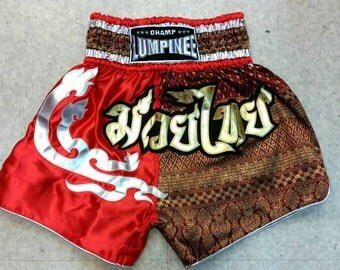 Muay Thai Boxing Shorts - Red