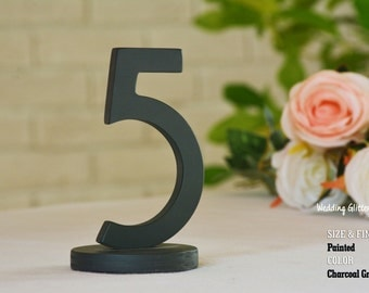 15 table numbers, Charcoal Grey table number, Charcoal Grey centerpiece, Navy Blue table numbers, champagne table numbers
