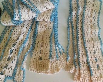 Crochet pieces / crochet belts / crochet scarf pieces