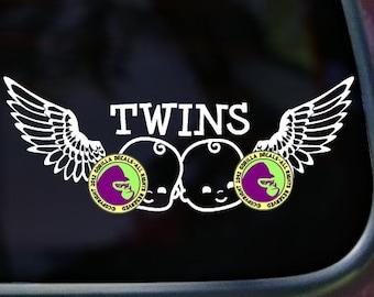 WINGS TWINS Vinyl Decal Sticker