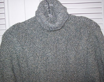 Sweater XL, Men's Sweater,  Winona Heavy Marbled  Ribbed Cable Knitted Men's Cotton Sweater XL