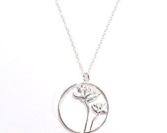 Sterling Silver Lotus Flowers Pendant