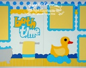 Scrapbook Page Kit Bath Time Duck Baby Boy Girl 2 page Scrapbook Layout 89
