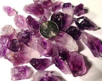 50g AMETHYST Rough POINTS,Amethyst Pieces,Crystal Chips, Amethyst Uruguay Dark Purple ,Amethyst Cluster,Reiki Crystal Healing Stone