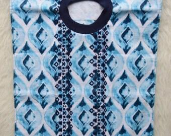 Multi-blues Towel Bib