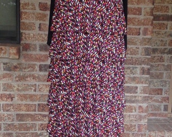"""The """"Lainey"""" Ruffle Skirt in Confetti Prints"""