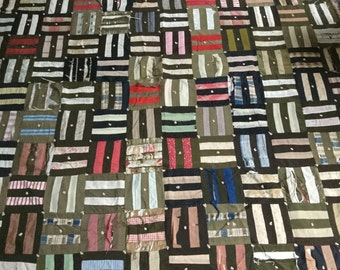 Large Antique Quilt Primitive Folk Art Fabric Wall Decor Display  khaki/black/red/brown/Ivory
