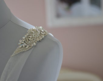 Luxury Vintage Inspired Wedding Dress Straps -Crystal Bridal Straps.