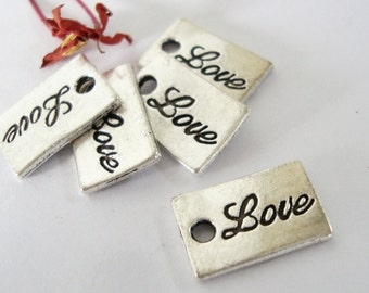 5 Love Tag Charms