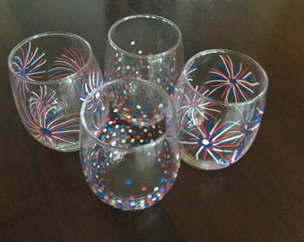 Hand Painted Glassware