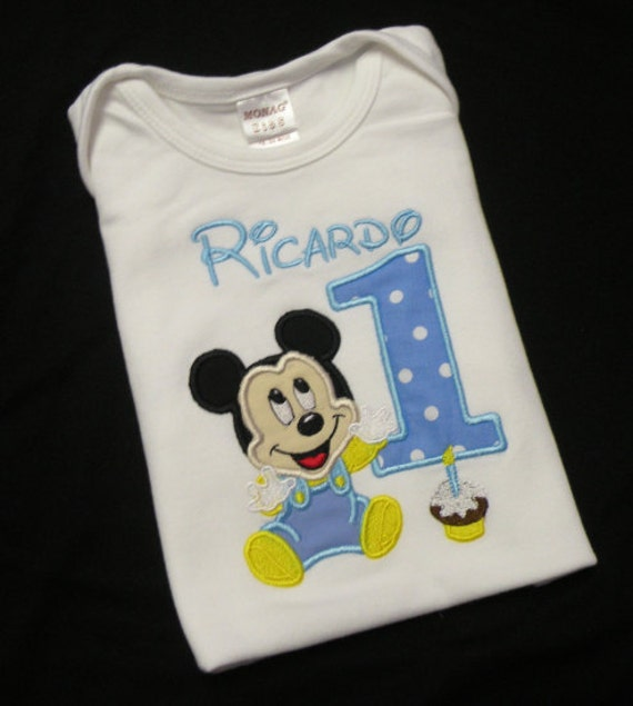Items Similar To Boys Mickey Cupcake Blue And White
