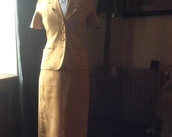 Cacharel linen Summer skirt suit.