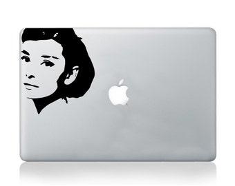 Macbook vinyl sticker audrey hepburn vinyl sticker decal mural transfer graphic art laptop notebook skin Asus HP Toshiba