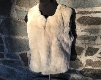 Designer Haute Hippie Rabbit Fur Vest Small