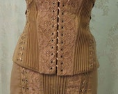 2pc skirt & basque nude lace up steampunk/goth/emo lace ribbon 10 wiggle skirt