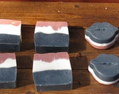 Rose Clay and Activated Charcoal Face and Body Bar