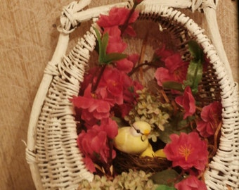 Cherry Blossom Bird Nest Basket
