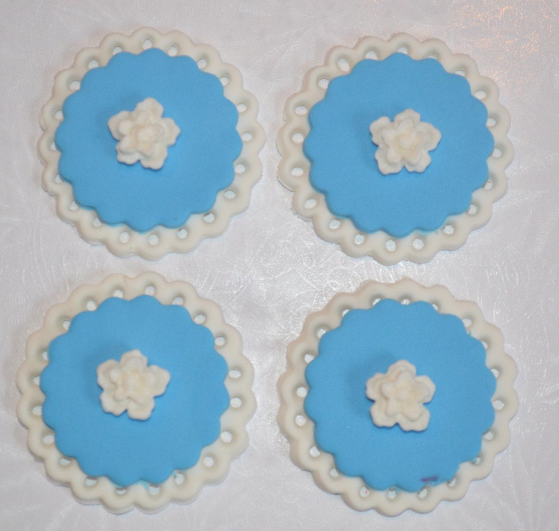 Fondant Wedding Cupcake Topper fondant bridal shower cupcake