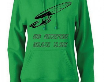Spaceship Hooded sweatshirt - available in many sizes and colors