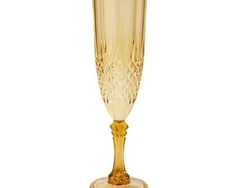 2 x Gold Champagne Flute