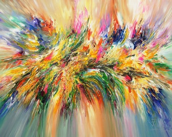 """Large Abstract Painting Original XL Acrylic on Canvas Abstract Expressionism. 61.0"""" x 41.3"""".  Peter Nottrott."""