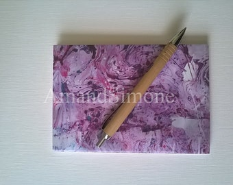 "Pink A6 notebook ""Marble"". Great gift for you to make beautiful helpful notes, your family or friends and associates. Duly noted:)"