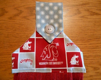 Hanging Hand Towel with Washington State Cougars Print