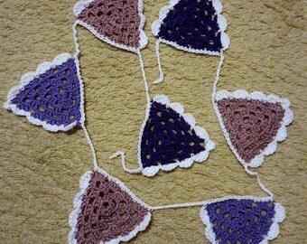 Purple Crochet Garland (Baby Nursery)