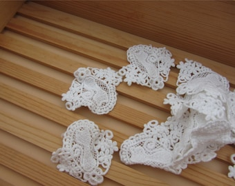 Pure White Cotton Applique ,Cat applique,Lace applique