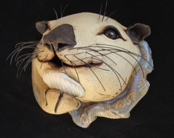 ceramic wall mounted otter for in or outdoors