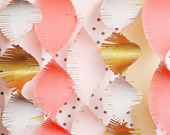 Gold Streamers Photo Backdrop