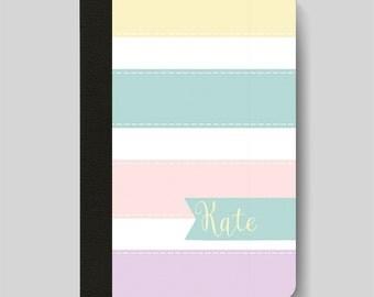 iPad Folio Case, iPad Air Case, iPad Air 2 Case, iPad 1 Case, iPad 2 Case, iPad 3 Case, iPad Mini - Pastel Stripes Customised iPad Case