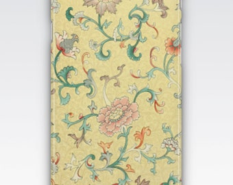 Case for iPhone 8, iPhone 6s,  iPhone 6 Plus,  iPhone 5s,  iPhone SE,  iPhone 5c,  iPhone 7  - Vintage Chinese Pastel Floral Pattern