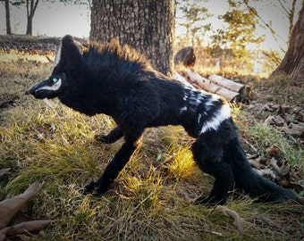 EXAMPLE LISTING~ Posable Shield Wolf art doll.