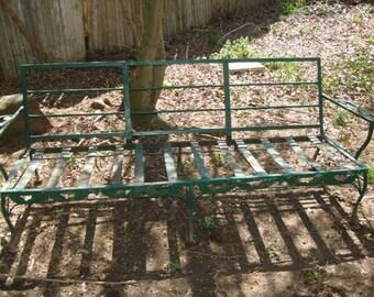 antique metal outdoor furniture  vintage metal patio sofa outdoor  lawn chair