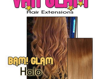 "Custom Natural Ombre, Halo Hair Extensions, 24"", 100% Cuticle Remy"