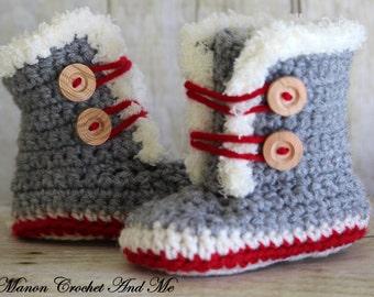 Baby - Fur trim shoes baby bootie