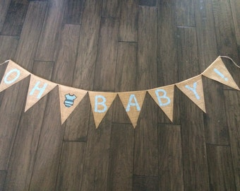 Oh Baby Burlap Banner, Oh Baby Banner, Oh Baby Sign, Baby Shower Sign, Baby Burlap banner, Baby Shower, Baby Photos, Baby Announcement Prop