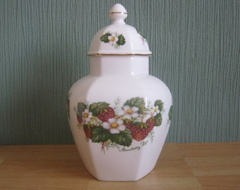 "Vintage Hammersley ""Strawberry Ripe"" Temple Jar"