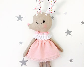 Linen doll limited edition Deer Annie.